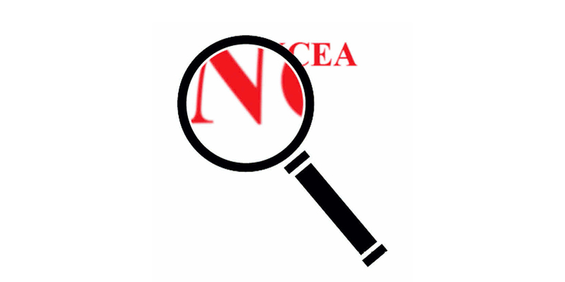 NCEA magnifying glass banner