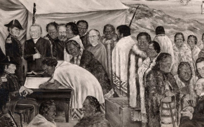 The Signing of the Treaty of Waitangi Oriwa Haddon WEB