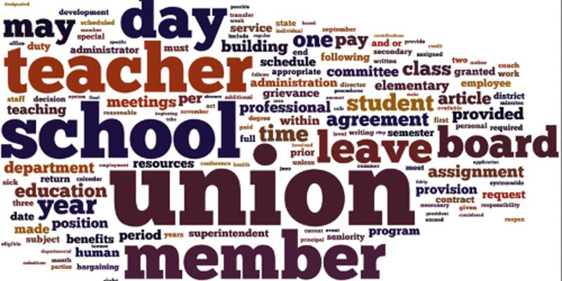 teacher union member word cloud